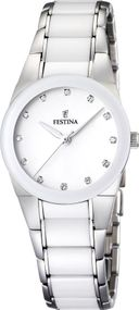 Festina Ceramic Collection F16534/3 Elegante Damenuhr Mit Keramikelementen