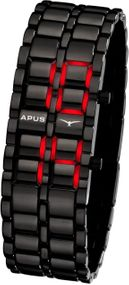 APUS Zeta Ladies Black Red AS-ZTL-BR LED Uhr für Damen Design Highlight
