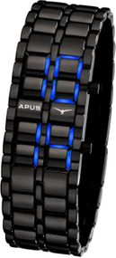 APUS Zeta Ladies Black Blue AS-ZTL-BB LED Uhr für Damen Design Highlight