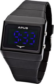 APUS Delta Black Blue AS-DE-BB LED Uhr für Herren Design Highlight