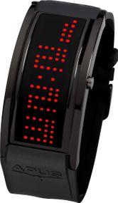 APUS Iota AS-IO-BL-RD Digitaluhr für Herren Programmierbare Laufschrift