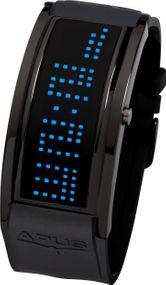 APUS Iota AS-IO-BL-BU Digitaluhr für Herren Programmierbare Laufschrift