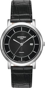 Roamer CLASSIC LINE GENTS 709856 41 57 07 Herrenarmbanduhr Swiss Made