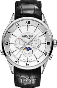 Roamer SUPERIOR MOONPHASE 508821 41 13 05 Herrenarmbanduhr Swiss Made
