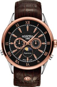 Roamer SUPERIOR MOONPHASE 508821 49 53 05 Herrenarmbanduhr Swiss Made