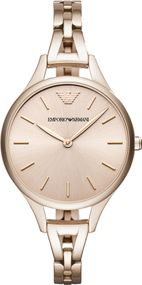 Emporio Armani 2 ZEIGER AR11055 Damenarmbanduhr Design Highlight