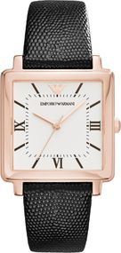 Emporio Armani 3 ZEIGER AR11067 Damenarmbanduhr Design Highlight