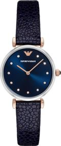 Emporio Armani 2 ZEIGER AR1989 Damenarmbanduhr Design Highlight