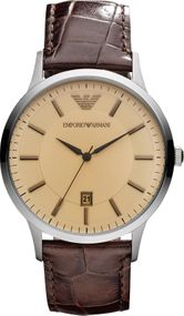 Emporio Armani 3 ZEIGER DATUM AR2427 Herrenarmbanduhr Design Highlight