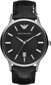 Emporio Armani 3 ZEIGER DATUM AR2411 Herrenarmbanduhr Design Highlight