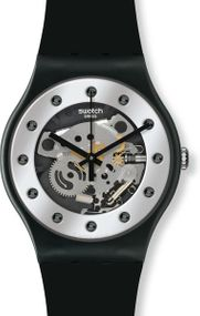 Swatch SILVER GLAM SUOZ147 Herrenarmbanduhr Design Highlight