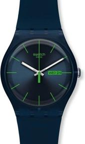 Swatch BLUE REBEL SUON700 Herrenarmbanduhr Design Highlight