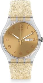 Swatch GOLDEN SPARKLE SUOK704 Herrenarmbanduhr Design Highlight