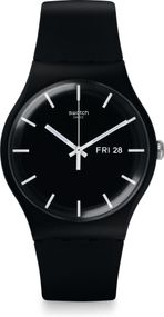 Swatch MONO BLACK SUOB720 Herrenarmbanduhr Design Highlight