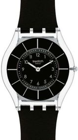 Swatch BLACK CLASSINESS SFK361 Damenarmbanduhr Swiss Made