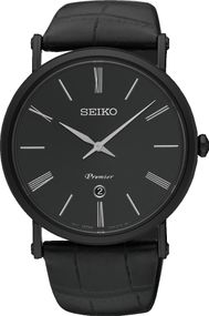 Seiko Premier SKP401P1 Herrenarmbanduhr flach & leicht