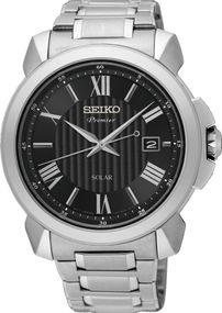 Seiko Premier SNE455P1 Herrenarmbanduhr Design Highlight