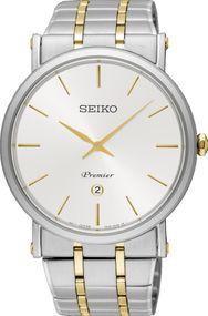Seiko Premier SKP400P1 Herrenarmbanduhr flach & leicht