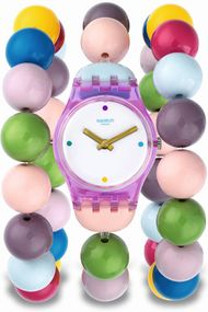 Swatch PARTY BEADS L LP148A Damenarmbanduhr Swiss Made