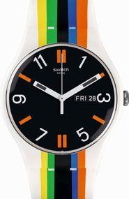 Swatch LIGNE DE FUITE SUOW708 Unisexuhr Swiss Made