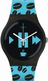Swatch COFFEE BLUE-S SUOC106 Unisexuhr Swiss Made