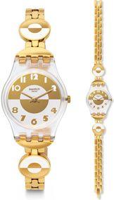 Swatch MASTERGLAM LK369G Damenarmbanduhr Swiss Made
