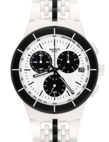 Swatch PISTE NOIRE SUSW407 Herrenchronograph Swiss Made