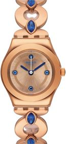 Swatch GOLDENLINKINGS YSG148G Damenarmbanduhr Swiss Made