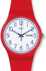 Swatch RED ME UP SUOR707 Unisexuhr Swiss Made