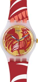 Swatch ROCKING ROOSTER SUOZ226 Unisexuhr Swiss Made