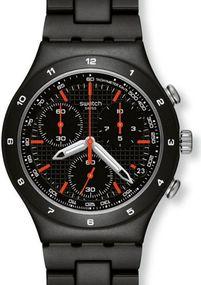 Swatch BLACK COAT YCB4019AG Herrenarmbanduhr Swiss Made