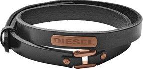DIESEL Jewellry LEATHER/STEEL DX1093221 Herrenarmband