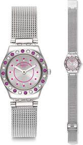 Swatch MECHE ROSE YSS319M Damenarmbanduhr Mit Kristallsteinen