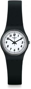 Swatch SOMETHING BLACK LB184 Damenarmbanduhr