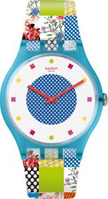 Swatch QUILTED TIME SUOS108 Damenarmbanduhr