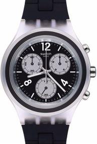 Swatch ELEBLACK SVCK1004 Herrenchronograph Sehr Sportlich