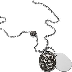 DIESEL Jewellry DOUBLE DOGTAGS DX1106040 Herrenhalskette