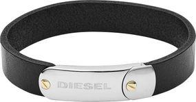 DIESEL Jewellry LEATHER/STEEL DX1113040 Herrenarmband