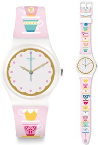 Swatch HIGH TEA GW191 Damenarmbanduhr Design Highlight