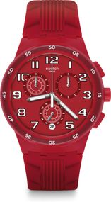 Swatch New Chrono Plastic RED STEP SUSR404 Herrenchronograph Swiss Made