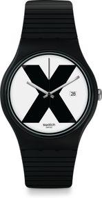 Swatch New Gent XX-RATED BLACK SUOB402 Herrenarmbanduhr Swiss Made