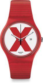 Swatch New Gent XX-RATED RED SUOR400 Herrenarmbanduhr Swiss Made
