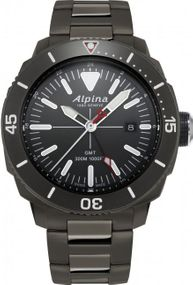 Alpina Geneve Seastrong Quartz GMT AL-247LGG4TV6B Herrenarmbanduhr