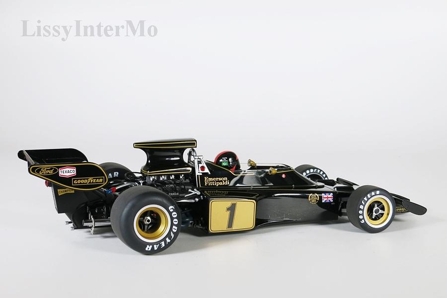 Lotus 72E 1973 Fittipaldi #1 mit Fahrer-Figur  – Bild 6