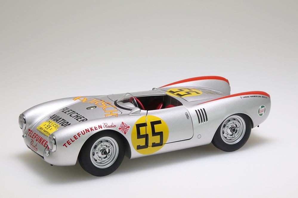 "Porsche 550/1500 RS Spyder silber ""Carrera Panamericana "" 1954 Herrmann 1954 #55 – Bild 1"