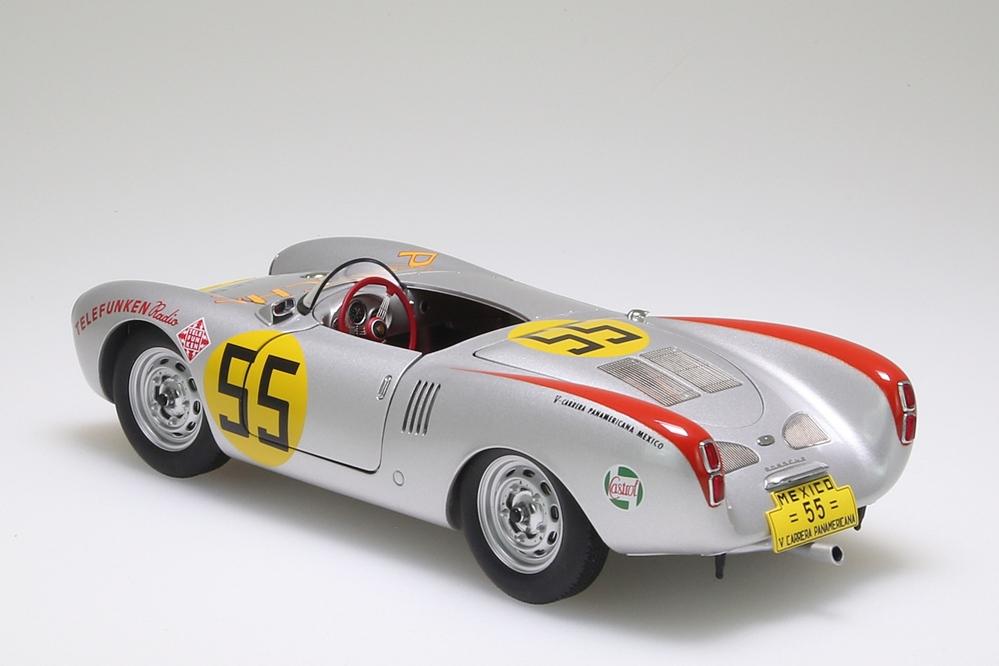 "Porsche 550/1500 RS Spyder silber ""Carrera Panamericana "" 1954 Herrmann 1954 #55 – Bild 2"