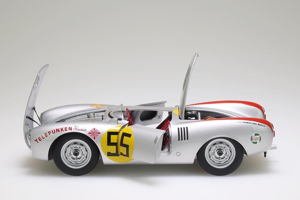 "Porsche 550/1500 RS Spyder silber ""Carrera Panamericana "" 1954 Herrmann 1954 #55 – Bild 5"