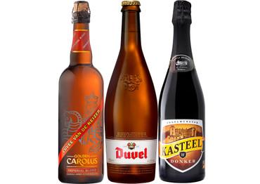 Belgisches Starkbier Paket mit 3 großen Bierflaschen je 0,75 l