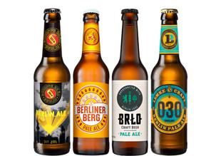 Berliner Pale Ale Bier Paket mit 4 Bierflaschen