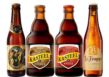 Valentinstag Starkbier Paket mit 4 Bierflaschen